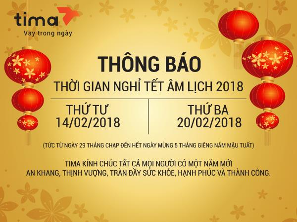 lich nghi tet 2018 tima
