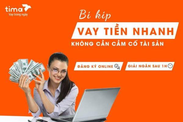 Thủ tục vay tiền trên app Tima vay 1H để nhận tiền trong 1 giờ