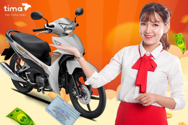 Gói vay tiền nhanh theo đăng ký xe máy ở Tima 120 Khâm Thiên
