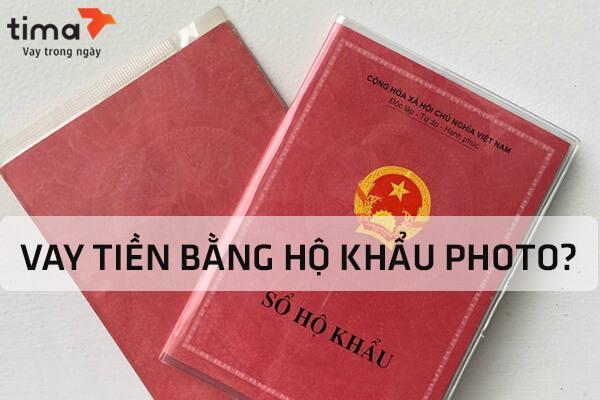 Vay tiền hộ khẩu photo
