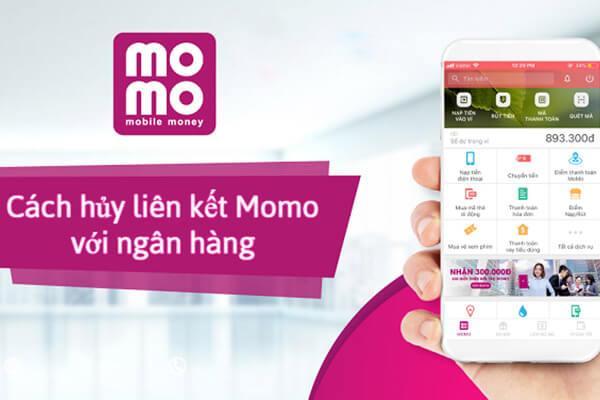 hủy liên kết tài khoản ngân hàng với ví MoMo